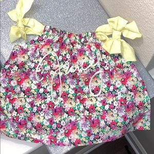 NWT. Adorable juicy couture floral baby.bow top